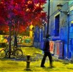 Bicicletes i senyor al raval (2012) 30x30 small